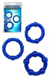 Stay Hard Cockrings Blue 3-pack