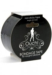 Non Sticky Bondage Tape Black 20 m