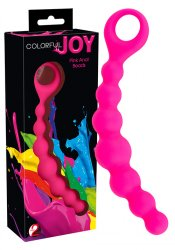 Colorful Joy Pink Anal Beads
