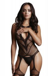 High Neck Fishnet Bodystocking