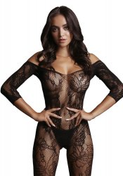 Bodystocking Long-Sleeve And Lace