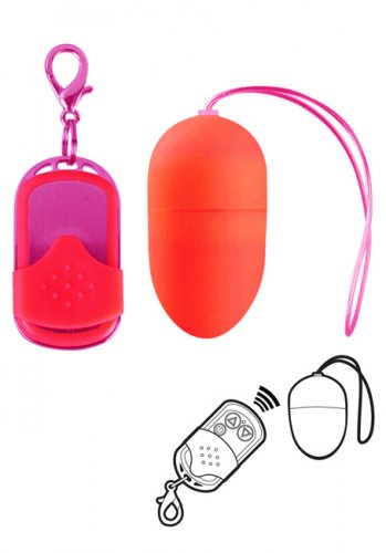 Vibrating Wireless Egg Medium Red