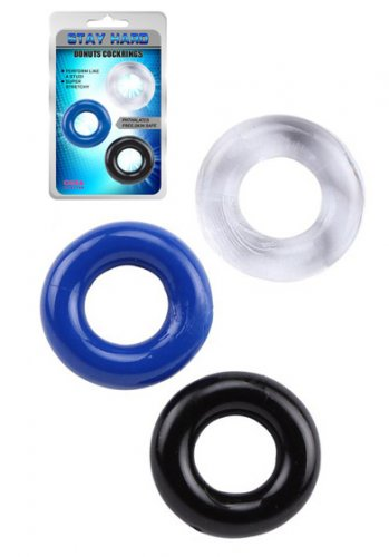 Stay Hard Donut Cockrings 3-pack
