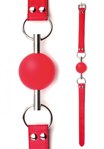 Ouch! Solid Ball Gag - Red