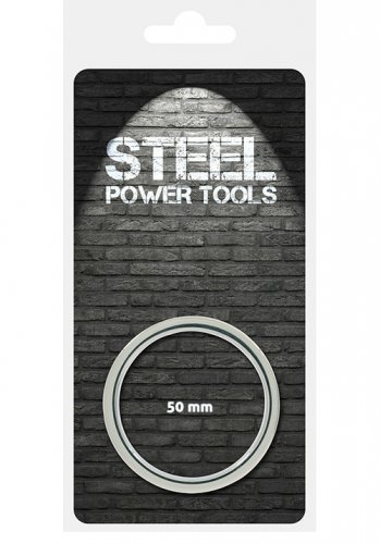 Steel Power Cockring Ribbed - 50 mm