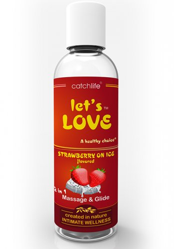 Lets Love Strawberry Massage och glid 100 ml
