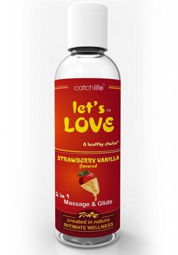 Lets Love Strawberry Vanilla Massage och glid 100 ml