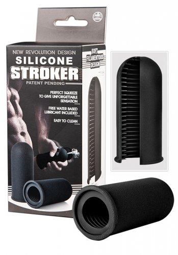Silicone Stroker, Svart