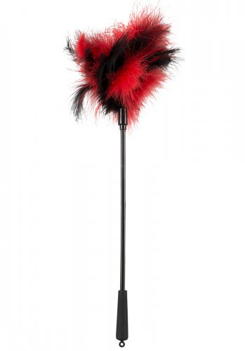 Feather Wand Black/Red