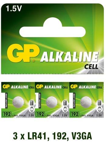 GP Alkaline Cell LR41 3 pack