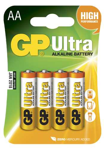 GP Ultra Alkaline AA - 4 pack