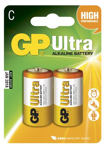 GP Ultra Alkaline C - 2 pack
