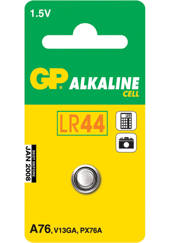 GP Alkaline Cell LR 44 - 1 pack