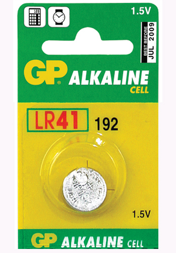 GP Alkaline Cell LR41 - 1 pack