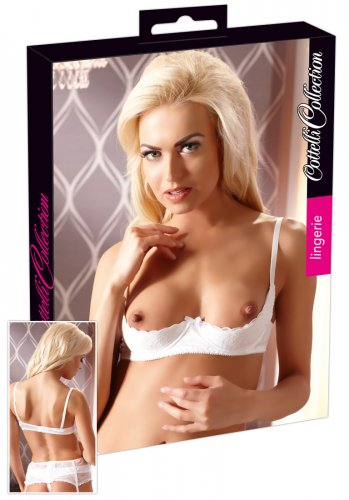 Basic Half-cup Bra, White
